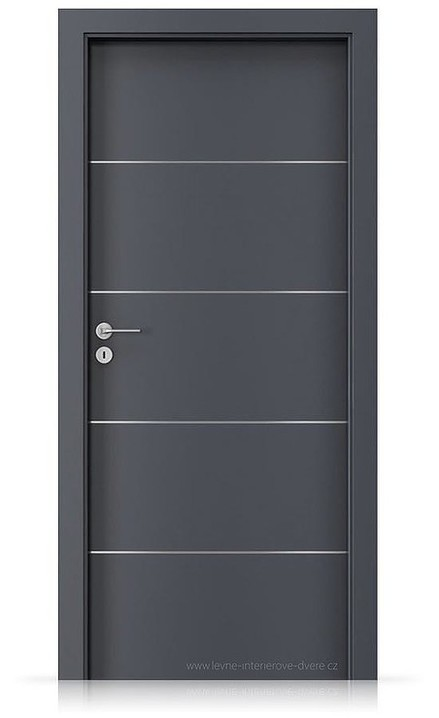 Interiérové dveře Porta LINE E.1 Laminát CPL HQ ANTRACIT HPL/CPL