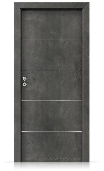 Interiérové dveře Porta LINE E.1 Laminát CPL HQ BETON TMAVÝ