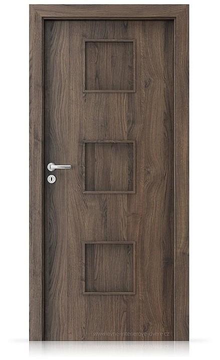 Interiérové dveře Porta FIT C.0 Portasynchro 3D DUB ŠARLATOVÝ