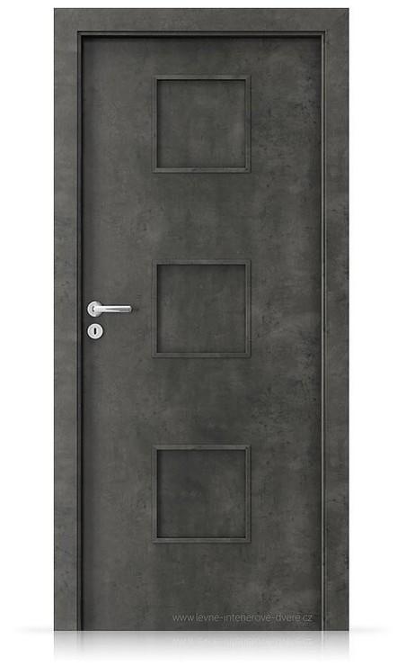 Interiérové dveře Porta FIT C.0 Laminát CPL HQ BETON TMAVÝ