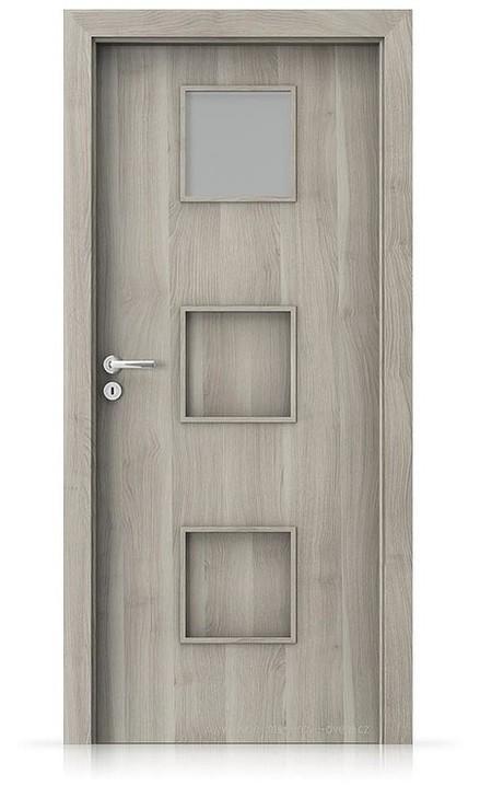 Interiérové dveře Porta FIT C.1 Portasynchro 3D AKÁT STŘÍBRNÝ