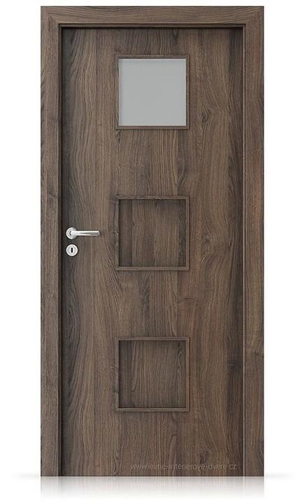 Interiérové dveře Porta FIT C.1 Portasynchro 3D DUB ŠARLATOVÝ