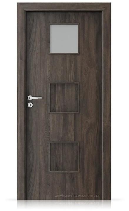 Interiérové dveře Porta FIT C.1 Portasynchro 3D DUB TMAVÝ