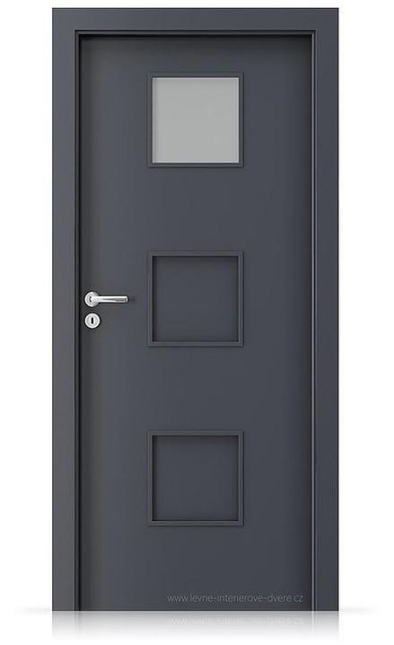 Interiérové dveře Porta FIT C.1 Laminát CPL HQ ANTRACIT HPL/CPL