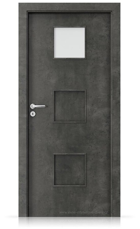 Interiérové dveře Porta FIT C.1 Laminát CPL HQ BETON TMAVÝ