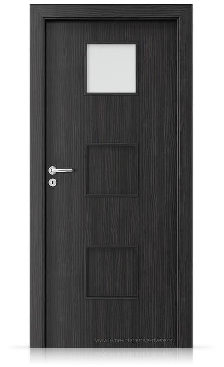 Interiérové dveře Porta FIT C.1 Laminát CPL HQ STRUKTURA TMAVÁ