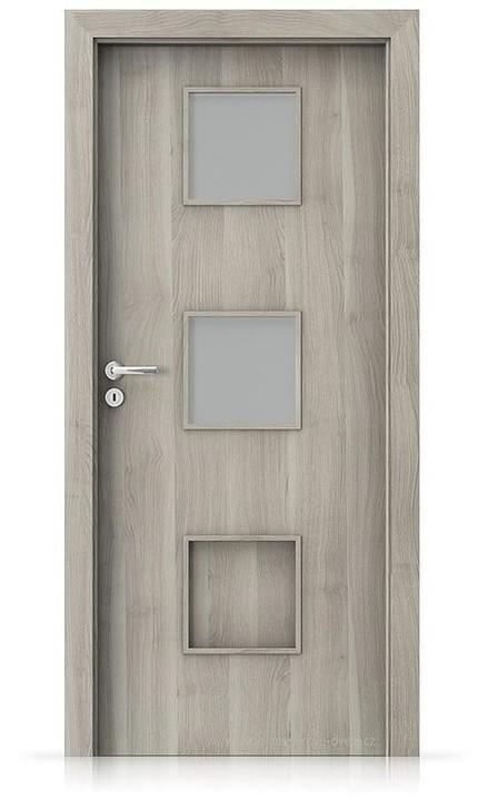 Interiérové dveře Porta FIT C.2 Portasynchro 3D AKÁT STŘÍBRNÝ