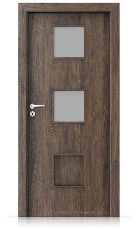 Interiérové dveře Porta FIT C.2 Portasynchro 3D DUB ŠARLATOVÝ