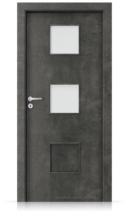 Interiérové dveře Porta FIT C.2 Laminát CPL HQ BETON TMAVÝ