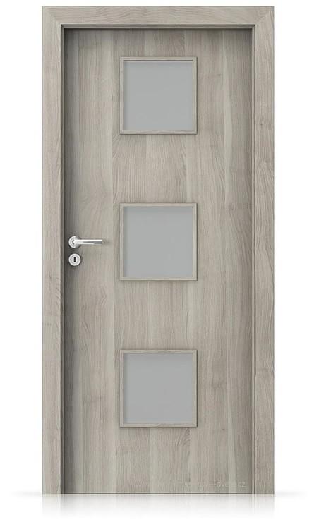 Interiérové dveře Porta FIT C.3 Portasynchro 3D AKÁT STŘÍBRNÝ