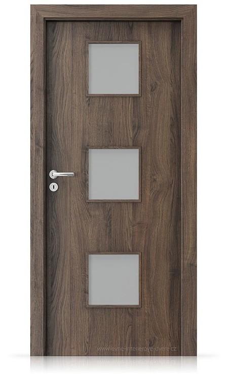 Interiérové dveře Porta FIT C.3 Portasynchro 3D DUB ŠARLATOVÝ