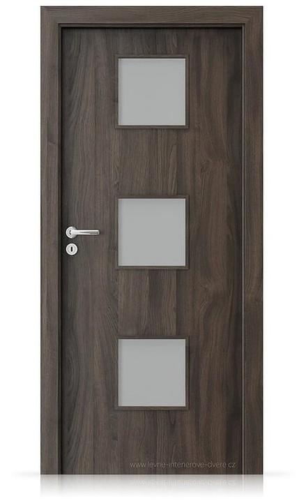Interiérové dveře Porta FIT C.3 Portasynchro 3D DUB TMAVÝ