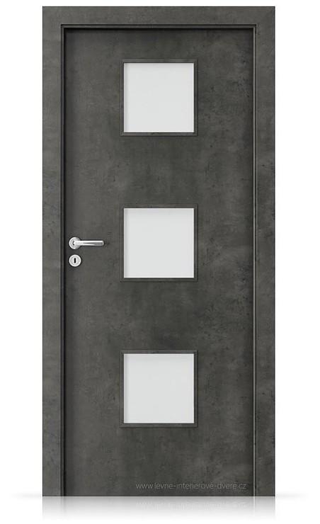 Interiérové dveře Porta FIT C.3 Laminát CPL HQ BETON TMAVÝ