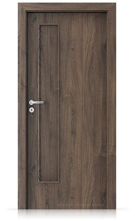 Interiérové dveře Porta FIT I.0 Portasynchro 3D DUB ŠARLATOVÝ
