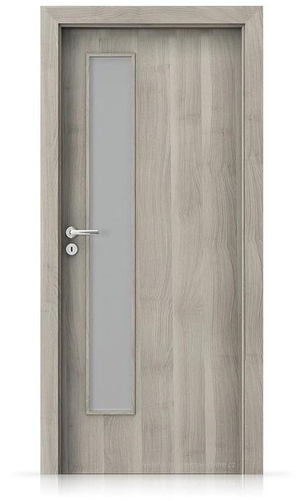 Interiérové dveře Porta FIT I.1 Portasynchro 3D AKÁT STŘÍBRNÝ