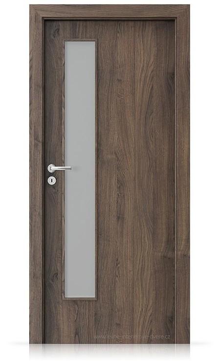 Interiérové dveře Porta FIT I.1 Portasynchro 3D DUB ŠARLATOVÝ