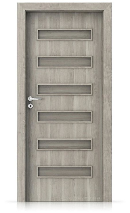 Interiérové dveře Porta FIT F.0 Portasynchro 3D AKÁT STŘÍBRNÝ