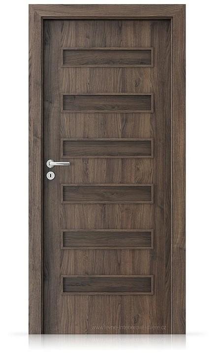 Interiérové dveře Porta FIT F.0 Portasynchro 3D DUB ŠARLATOVÝ
