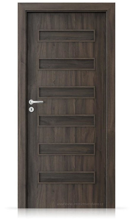 Interiérové dveře Porta FIT F.0 Portasynchro 3D DUB TMAVÝ