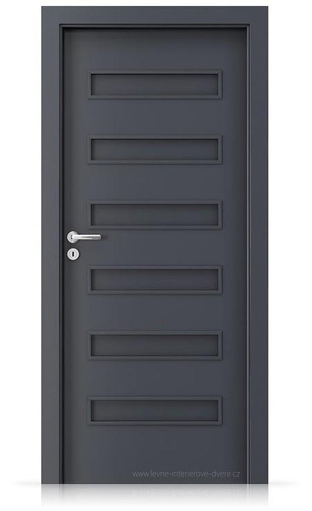 Interiérové dveře Porta FIT F.0 Laminát CPL HQ ANTRACIT HPL/CPL