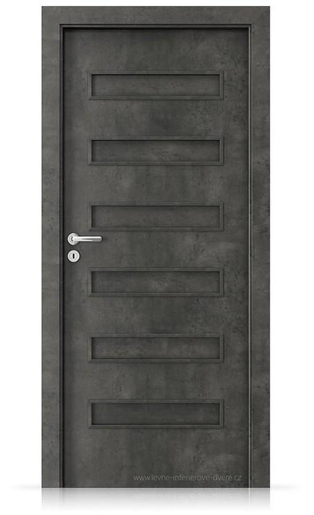Interiérové dveře Porta FIT F.0 Laminát CPL HQ BETON TMAVÝ