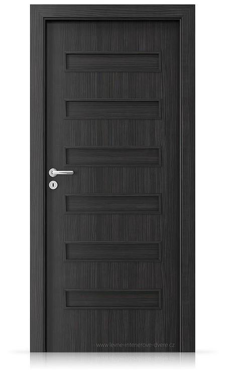Interiérové dveře Porta FIT F.0 Laminát CPL HQ STRUKTURA TMAVÁ