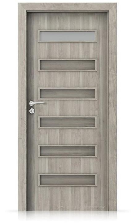 Interiérové dveře Porta FIT F.1 Portasynchro 3D AKÁT STŘÍBRNÝ