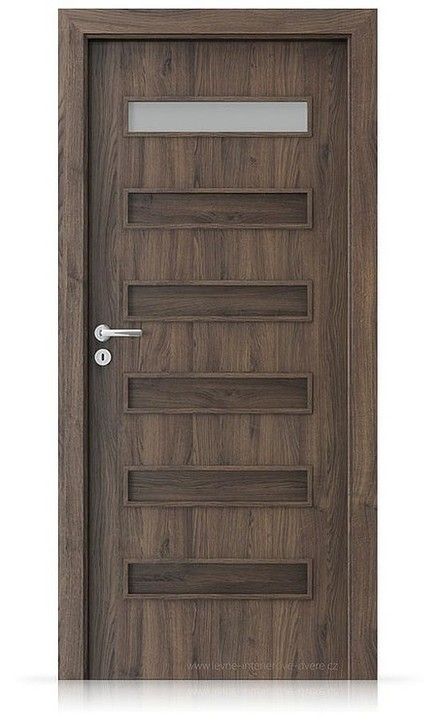 Interiérové dveře Porta FIT F.1 Portasynchro 3D DUB ŠARLATOVÝ