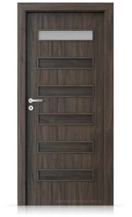 Interiérové dveře Porta FIT F.1 Portasynchro 3D DUB TMAVÝ