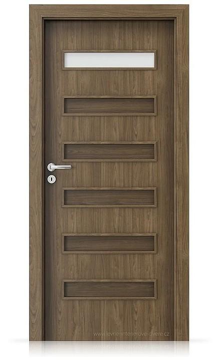 Interiérové dveře Porta FIT F.1 Laminát CPL HQ OŘECH PŘÍRODNÍ