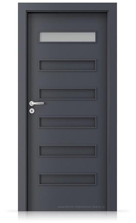 Interiérové dveře Porta FIT F.1 Laminát CPL HQ ANTRACIT HPL/CPL