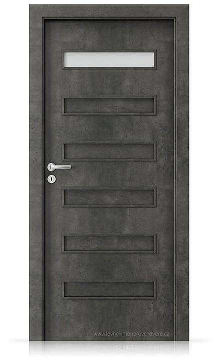 Interiérové dveře Porta FIT F.1 Laminát CPL HQ BETON TMAVÝ