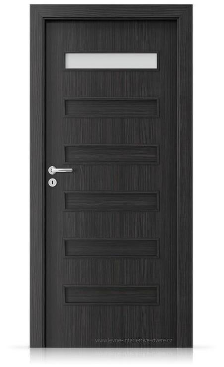 Interiérové dveře Porta FIT F.1 Laminát CPL HQ STRUKTURA TMAVÁ
