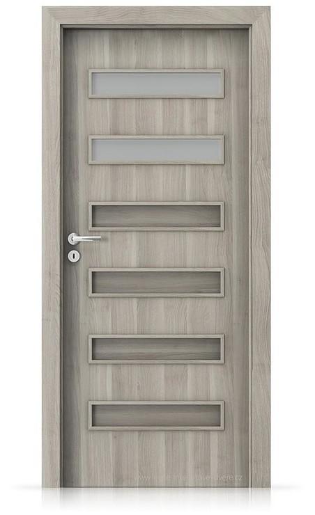 Interiérové dveře Porta FIT F.2 Portasynchro 3D AKÁT STŘÍBRNÝ