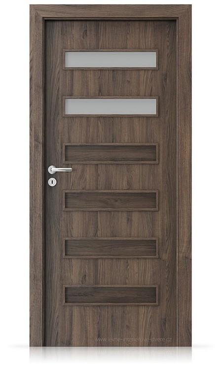Interiérové dveře Porta FIT F.2 Portasynchro 3D DUB ŠARLATOVÝ