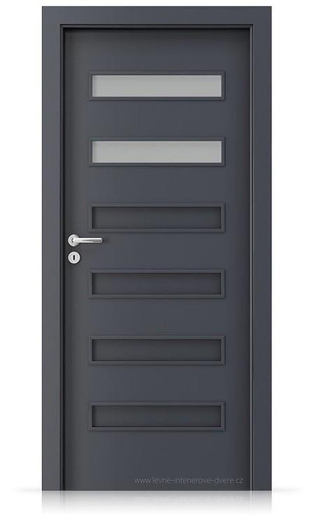 Interiérové dveře Porta FIT F.2 Laminát CPL HQ ANTRACIT HPL/CPL