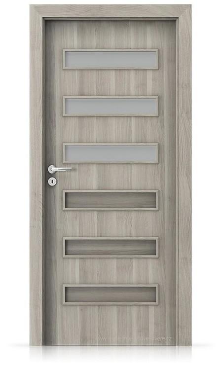 Interiérové dveře Porta FIT F.3 Portasynchro 3D AKÁT STŘÍBRNÝ