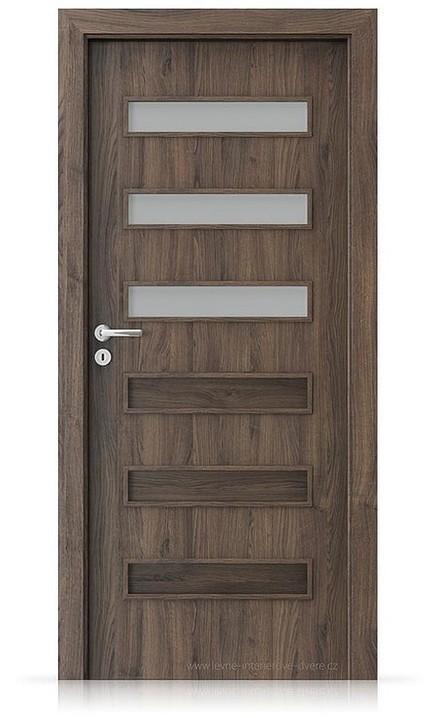 Interiérové dveře Porta FIT F.3 Portasynchro 3D DUB ŠARLATOVÝ