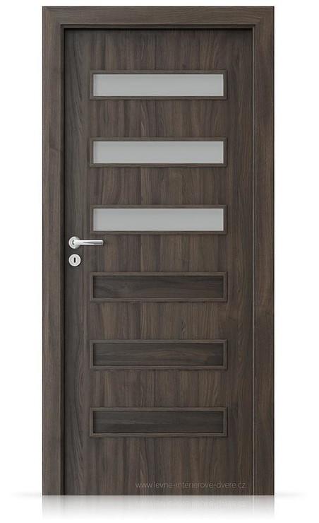 Interiérové dveře Porta FIT F.3 Portasynchro 3D DUB TMAVÝ