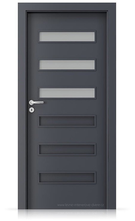 Interiérové dveře Porta FIT F.3 Laminát CPL HQ ANTRACIT HPL/CPL