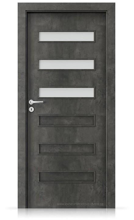 Interiérové dveře Porta FIT F.3 Laminát CPL HQ BETON TMAVÝ