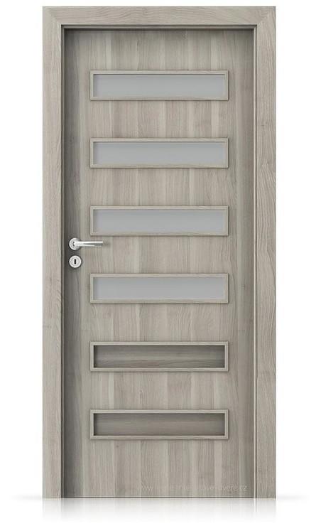 Interiérové dveře Porta FIT F.4 Portasynchro 3D AKÁT STŘÍBRNÝ