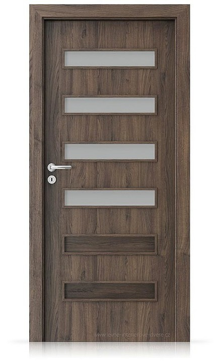 Interiérové dveře Porta FIT F.4 Portasynchro 3D DUB ŠARLATOVÝ