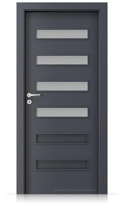 Interiérové dveře Porta FIT F.4 Laminát CPL HQ ANTRACIT HPL/CPL