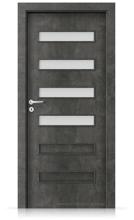 Interiérové dveře Porta FIT F.4 Laminát CPL HQ BETON TMAVÝ