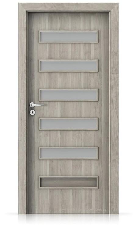 Interiérové dveře Porta FIT F.5 Portasynchro 3D AKÁT STŘÍBRNÝ