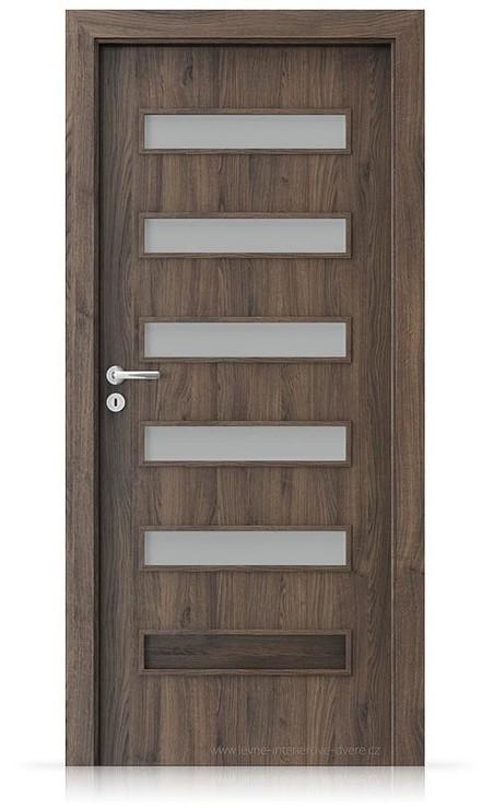 Interiérové dveře Porta FIT F.5 Portasynchro 3D DUB ŠARLATOVÝ