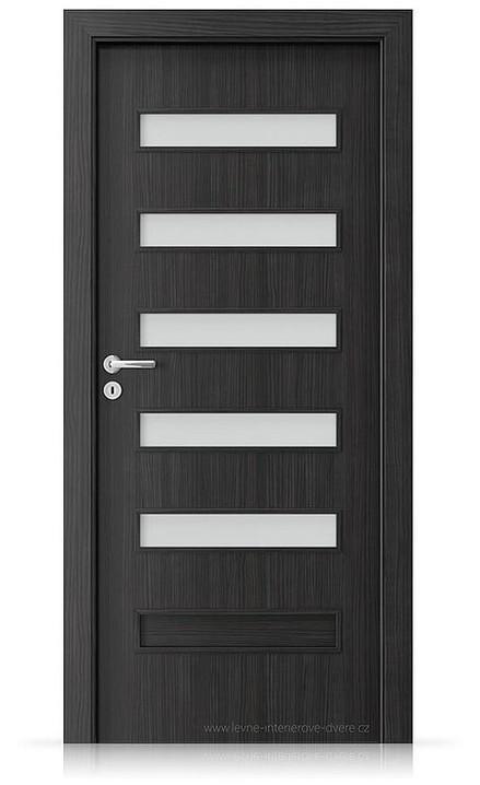 Interiérové dveře Porta FIT F.5 Laminát CPL HQ STRUKTURA TMAVÁ