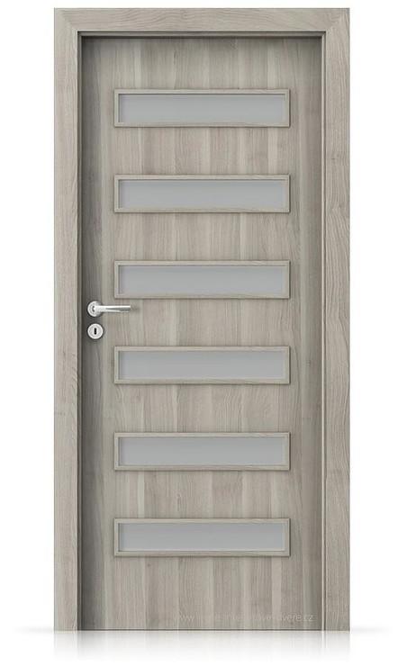 Interiérové dveře Porta FIT F.6 Portasynchro 3D AKÁT STŘÍBRNÝ