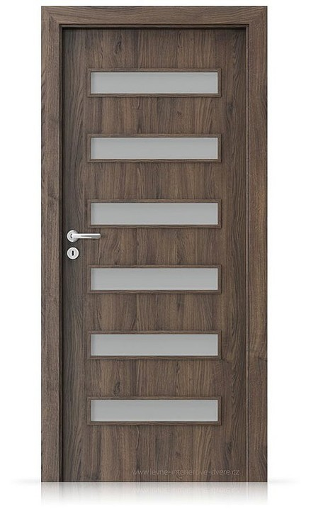 Interiérové dveře Porta FIT F.6 Portasynchro 3D DUB ŠARLATOVÝ